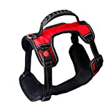 Big Dog Harness No Pull Einstellbare Pet Reflektierende Oxford Soft Weste Silikon Griff Für Große Hunde Easy Control Harness Red,Red,L