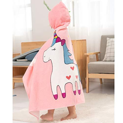 Tier Kapuze Baby-Handtuch Waschlappen Ultra Soft und Extra Large, 100% Baumwolle Bademantel for Dusche Geschenk for Jungen oder Mädchen (2-6 Jahre) (Color : Unicorn)