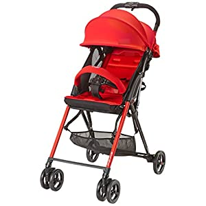 Baby Stroller Lightweight Folding Can Sit Reclining High Landscape Stroller (Color : RED)   2