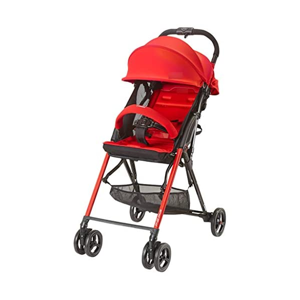 Baby Stroller Lightweight Folding Can Sit Reclining High Landscape Stroller (Color : RED) Liucuifang ☻【Scope of use】Twin strollers for urban and rural multi-purpose trolley bearing an amazing amount of public plate, and comfortable to use, powerful ☻【powerful functions】 Convenient for travel and driving, our baby car is easy to fold, small footprint, single wheel suspension, front tray, accessories, adjustable seat angle, sturdy frame with adjustable seat adjustment and comfortable fit baby chair. ☻【safe and comfort】 Baby can not afford to hurt, the most important health, safety and comfort, a key release of 5-point seat belts. 1