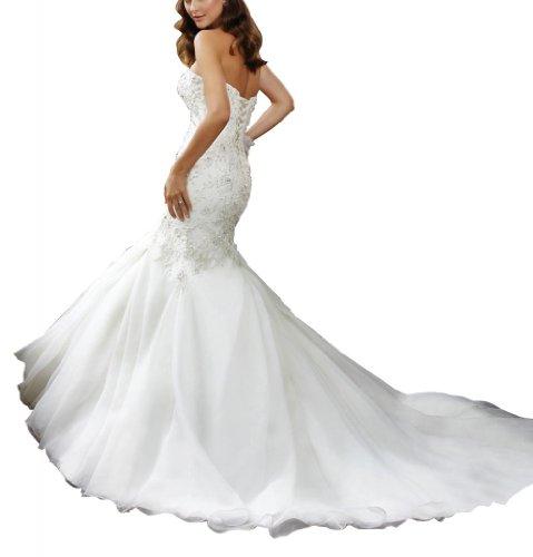 GEORGE BRIDE - Robe nuptiale magnifique de corset perle avec jupe du style asymetrique Blanc