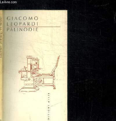 Palinodie par Giacomo Leopardi