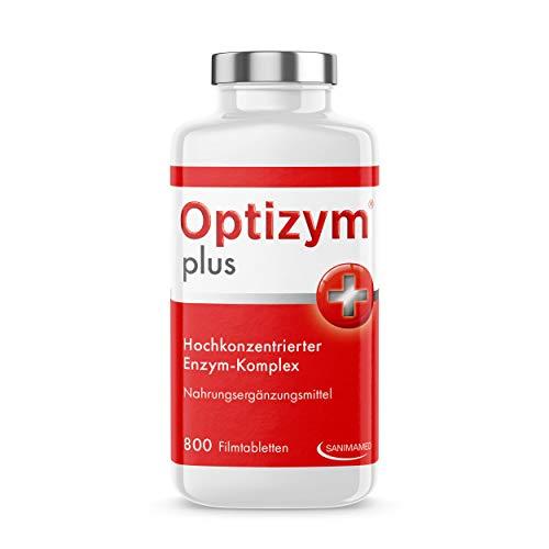 OPTIZYM plus Enzym-Komplex I 6-fach Enzyme in Kombination (Papain, Bromelain, Pankreatin, Rutin, Trypsin und Chymotrypsin) Hochdosiert I Selbstheilungskräfte aktivieren (800 Tabletten)