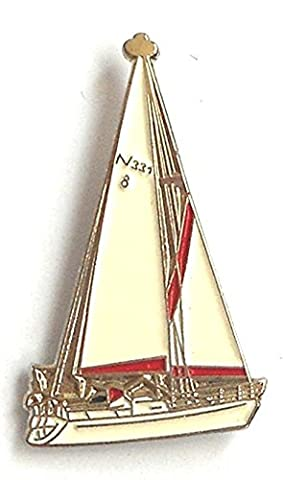 Metal Enamel Pin Badge Brooch Sea Ship Sail Boat Sailing Yacht