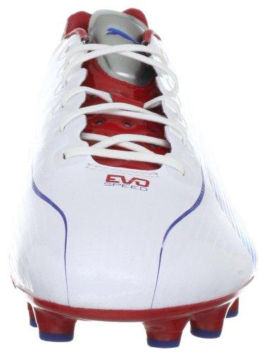 Puma evoSPEED 1 FG 102527 Herren Fußballschuhe Weiss (white-limoges-ribbon red 01)