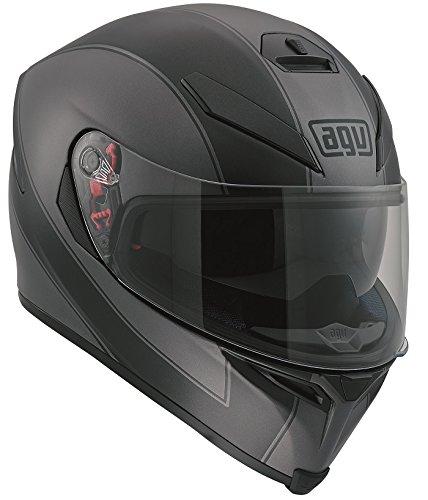 Enlace K5 AGV casco del fronte pieno grigio nero