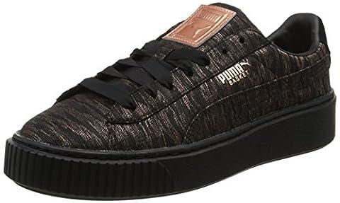 Puma Basket Platform Vr, Sneakers Basses Femme, Noir (Black-Black), 37 EU