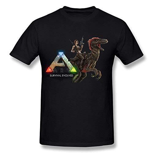 Herren Casual Ark Survival Evolved Tee Shirts Tshirt Kurzarm Rundhals Baumwolle T-Shirt Plus Size T-Shirt Schwarz XL -