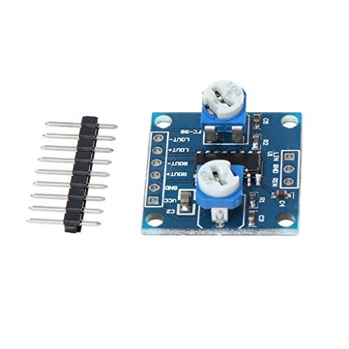 Werst PAM8406 Digitaler Verstärkerplatine mit Lautstärkepotentiometer, 2 x 5 W, Stereo-Maus Powered Woofer