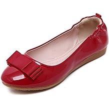 Minetom Mujer Primavera Otoño Casual Zapatos Suave Forro Plegable Zapatos Bailarina Bowknot Plano Zapatos