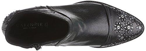 Café Noir Half-Boots, Bottes Classics courtes, non doublées femme Noir - Schwarz (010 NERO)