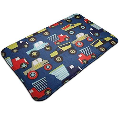 Hoklcvd Toy Car Indoor Outdoor Doormat Welcome Doormat Bathroom Mats (Machine-Washable/Non-Slip) 31.5