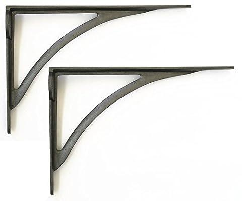 Pair of Large Cast Iron Victorian Ironbridge Shelf Brackets – 10
