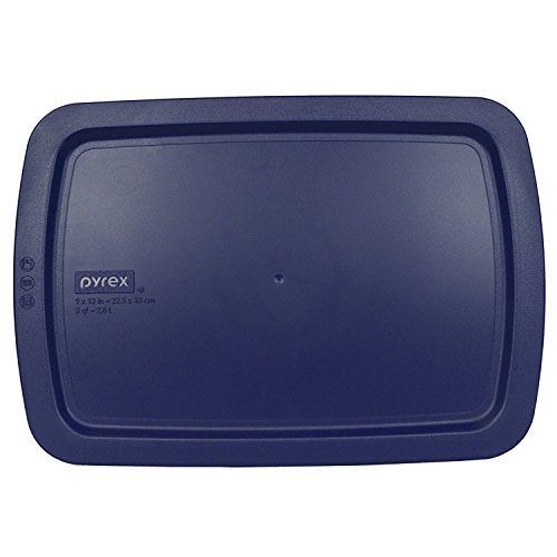 Pyrex C-233-PC Easy Grab Blue Rectangle Plastic Lid for 9 X 13 Oblong Baking Dish by Pyrex