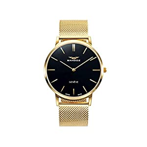 Sandoz – Reloj Acero IP Dorado Brazalete Sr Classic & Slim Sa
