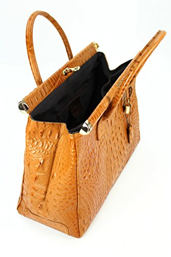 c8cdf4cbc1b62 ... Belli Bag XXL Leder Henkeltasche Handtasche Damen Ledertasche  Umhängetasche - Farbauswahl - 38x26x18 cm (B ...