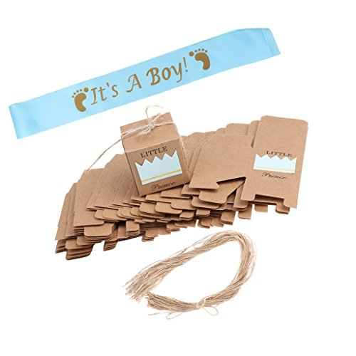 sharplace 50Stück Kraft Little Prince Candy Box & Baby Dusche IT 'S A BOY BAND (Baby-dusche Prince Baby)