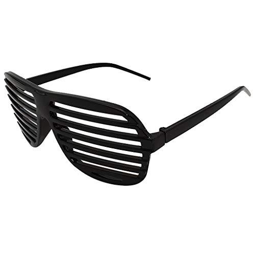 VRTUR Partybrille metallic 6 Farben Partybrillen Bunt Gitterbrille Spaß Spass Brille Atzen Brillen Party Brille (One size,Schwarz)