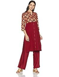 Amazon Brand - Myx Women's Festive Straight Kurta