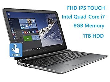 "Newest HP Pavilion 15.6"" Flagship Laptop, 6th Gen Skylake Intel i7-6700HQ Quad-Core Processor(6M Cache, up to 3.5 GHz), FHD IPS Touchscreen, 8GB DDR3, 1TB HDD,(US Version imported by uShopMall U.S.A.)"