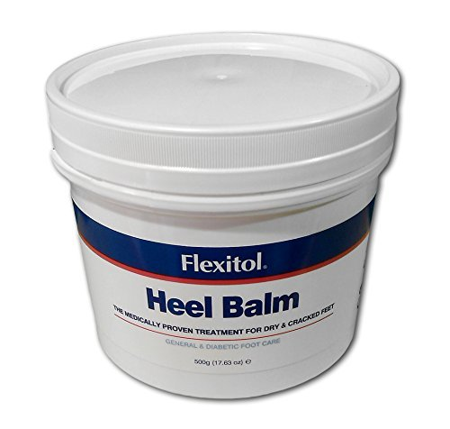 Flexitol Heel Balm 500g Pump Tub - Proven Treatment for Dry & Cracked Feet - General & Diabetic Foot Care
