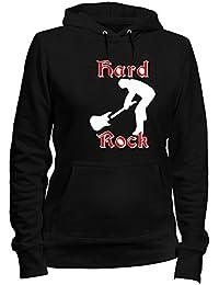Sudadera con Capucha para Las Mujeras Negro T0205 Hard Rock Fun Cool Geek