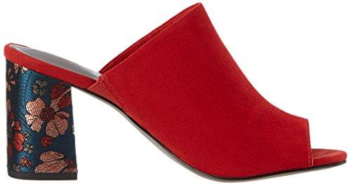 Tamaris 27218, Sandales Bout Ouvert Femme Rouge (Sangria 536)