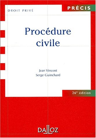 Procédure civile, 26e édition par  Jean Vincent, Serge Guinchard