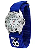 Pacific Time 87193 - Orologio da polso per bambini con cinturino in velcro, analogico, al quarzo, colore: Blu