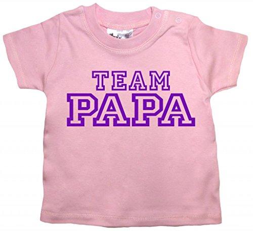 Team Papa T-shirt (Dirty Fingers, Team Papa, Baby T-Shirt, 24-36m, Rosa)