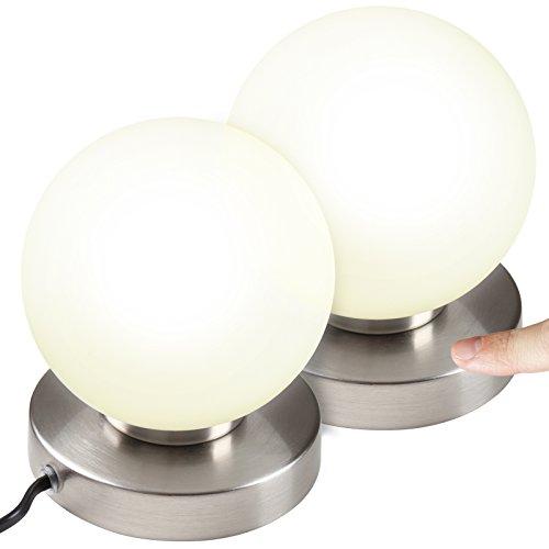 Jago - Juego de 2 lámparas de mesa táctiles, 3 intensidades de...