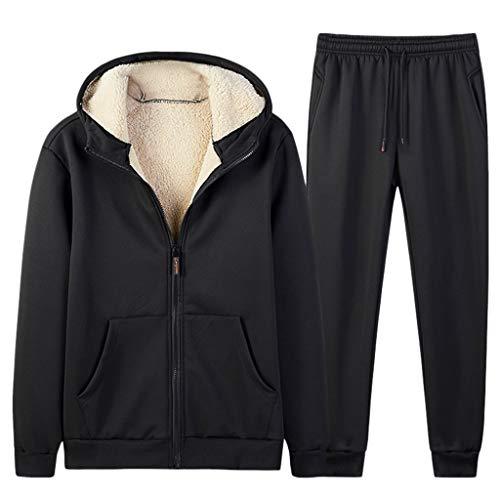 Sllowwa Jogging Anzug Herren Jogger Trainingsanzug Sportanzug Suit 2-teilig Herbst Winter Feste Sweatshirt Tops Hosen Sets M-5XL