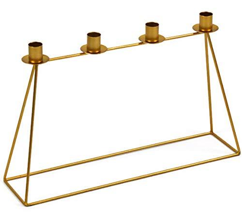 Bada Bing Kerzenhalter Metall Gold Stabil Kerzenständer Für 4 Kerzen Adventskerzenhalter Advent Trend Modern 41