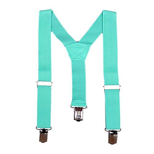 DonDon Bretelles pour enfant 2 cm fin longueur réglable pour une hauteur de 80 cm jusqu´à 110 cm, de 1 à 5 ans Turquoise