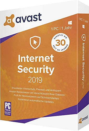 AVAST Internet Security - 1 PC / 1 Jahr | 1 PC / 1 Jahr | 12 Monate | PC, Laptop | Download| Download