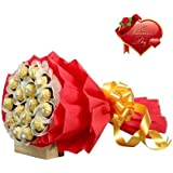 Valentines Day Gift of FLORAL ARRANGEMENT WITH CHOCOLATE