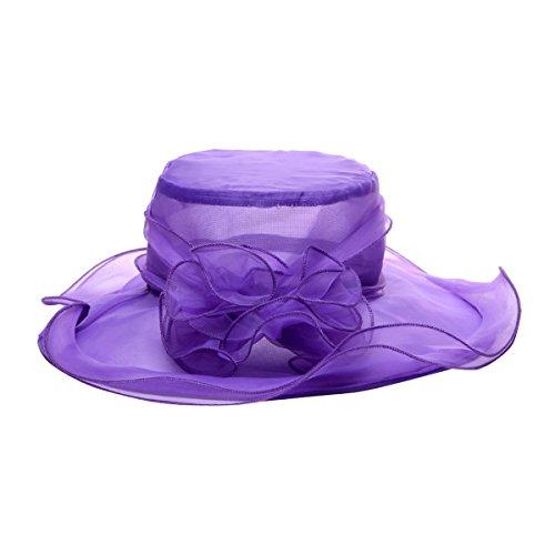 Fletion sombreros mujer fiesta Retro clásico sombreros fiesta para bodas flores sombreros para el sol mujer