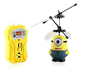 Flying Minion Yellow Toy Helicopter One Eye Remote Control Aircraft Infrared