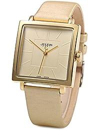 32cade0f9474 Shop Julius - Reloj de cuarzo cuadrado casual de piel