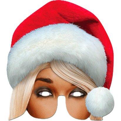 Frau Santa Maske - Weihnachtsmaske - eine Größe (Up Schnurrbart Light)