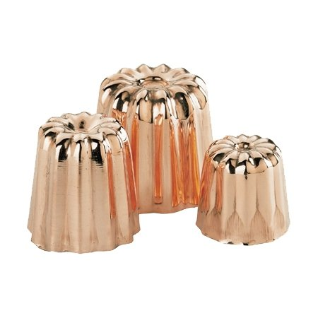 De Buyer 6820 - SET OF 8 COPPER & TIN INSIDE