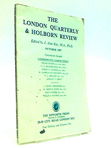 The London Quarterly & Holborn Review October 1957
