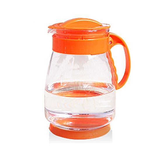 QFFL Glaskühler Wasserkocher Haushaltsfilter Saft Topf Verdickung Hochtemperatur Teekanne Kaltwasserflasche 3 Farben Erhältlich 21 cm Thermosflasche ( Farbe : B )