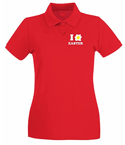 T-Shirtshock - Polo pour femme T0483 i love easter Rouge