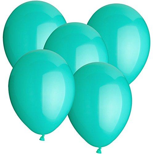 Gummiballons Latexballons 10 Stück - Ø 30cm - auch als Heliumballon geeignet - freie Farbauswahl - Weiss Rot Hellblau Blau Dunkelblau Gelb Limonengrün Grün Orange Lachs Pink Rosa Lila Schwarz Klar Durchsichtig Transparent (Türkis) (Dunkel Lila Luftballons)