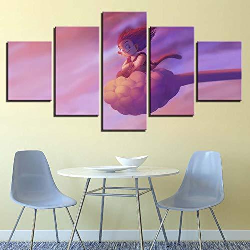 mmwin Modulare Hd Drucke 5 Stücke Bilder Dekoration Leinwand Poster Wandkunst Für Wohnzimmer Arbeit