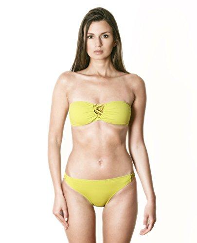 JOG Swimwear Convertible Bikini with Detachable Straps and Lace Inset -