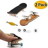 AumoToo Mini Tastiera, 2 Professional Pack di Skateboard Dito Maple Legno Fai da Te dell'Assemblea Skateboard del Giocattolo Giochi di Sport Regalo dei Capretti (Bianca)