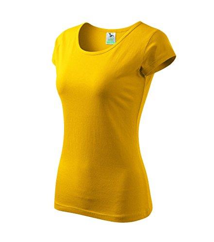 Adler T-Shirt für Damen Ladies Shirt Pure - Größe und Farbe Wählbar- (S, Gelb) (Adler T-shirt)