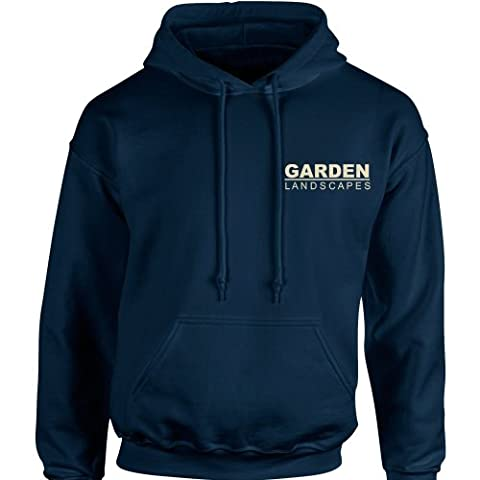 iClobber Garden Landscapes Business Company Work Wear Men's Hoodie Hoody Sweatshirt Small Adult -